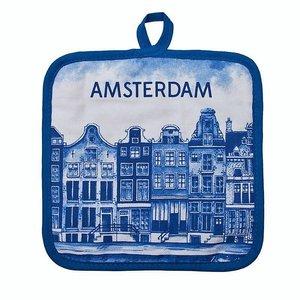Heinen Delftware Pannenlappen Delfts blauw - Amsterdam