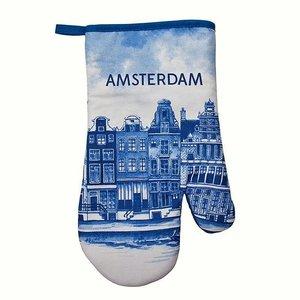 Typisch Hollands Oven mitts Delft blue - Amsterdam