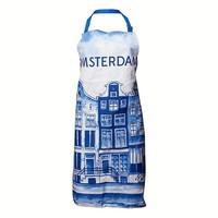 Typisch Hollands Delfter Blau - Küchenschürze - Amsterdam