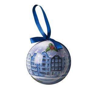 Typisch Hollands Delfter blauer Weihnachtsball im Giftbox - Plastik