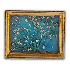 Typisch Hollands Magnet - Mini-Malerei - Mandelblüte - Vincent van Gogh