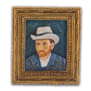 Typisch Hollands Magnet Mini Gemälde Selbstporträt - Vincent van Gogh