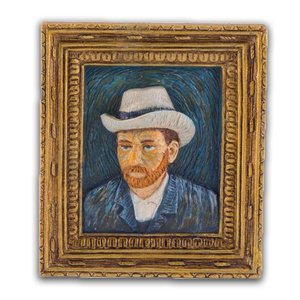 Typisch Hollands Magnet Mini painting Self portrait - Vincent van Gogh