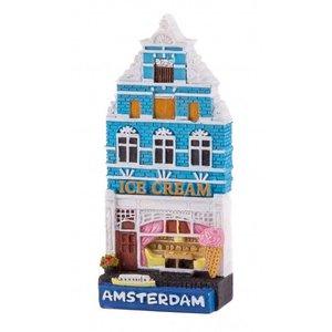 Typisch Hollands Magneet huisje Ice cream shop Amsterdam