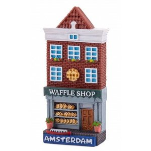 Typisch Hollands Magneet gevelhuisje Waffle shop Amsterdam