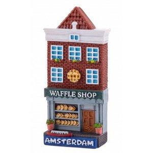 Typisch Hollands Magnet facade house Waffle shop Amsterdam
