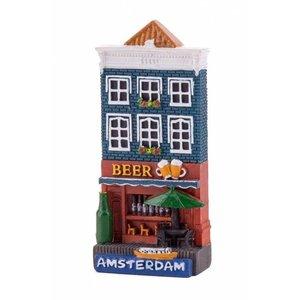 Typisch Hollands Magneet gevelhuisje Beer shop Amsterdam
