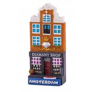 Typisch Hollands magneet polystone huisje Diamond shop Amsterdam