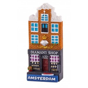 Typisch Hollands magnet polystone cottage Diamond shop Amsterdam