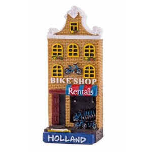 Typisch Hollands Magnet facade house Bike shop Hollland