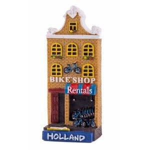 Typisch Hollands Magnetfassadenhaus Fahrradladen Hollland