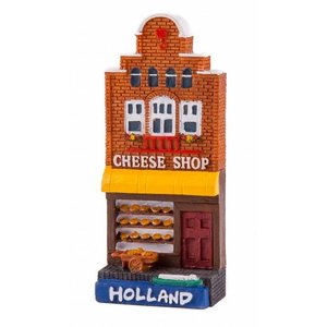 Typisch Hollands Magneet gevelhuisje Cheese shop Holland
