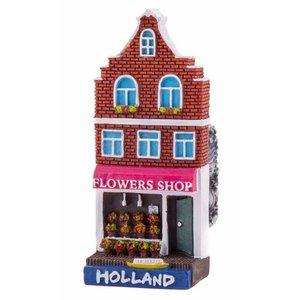 Typisch Hollands Magnetfassadenhaus Blumenladen Holland