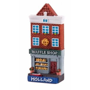 Typisch Hollands Magneet gevelhuisje Waffle shop Holland
