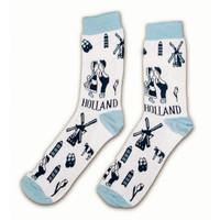 Typisch Hollands Sokken Delfts blauw maat 40-46