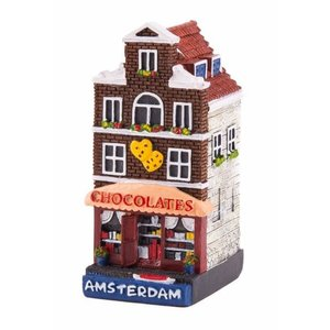 Typisch Hollands Gevelhuisje Schokoladenladen Amsterdam