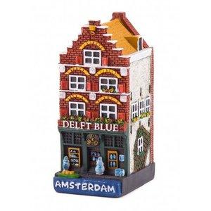 Typisch Hollands Gevelhuisje Delftblue shop Amsterdam
