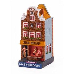 Typisch Hollands Gevelhuisje Sexshop Amsterdam