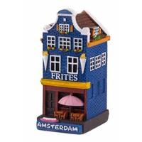 Typisch Hollands Gevelhuisje Frites Geschäft Amsterdam