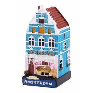 Typisch Hollands Fassadenhaus Eisdiele Amsterdam