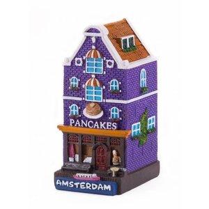 Typisch Hollands Fassaden-Haus-Pfannkuchen Amsterdam