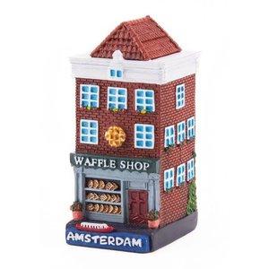 Typisch Hollands Geveluisje Waffelgeschäft Amsterdam