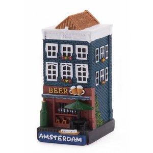 Typisch Hollands Gevelhuisje Biergeschäft Amsterdam