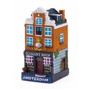 Typisch Hollands polystone cottage Diamond shop Amsterdam