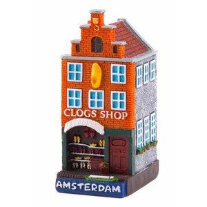 Typisch Hollands Gevelhuisje Clog Geschäft Amsterdam