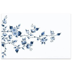 Typisch Hollands Placemat - Delft Blue Flowers