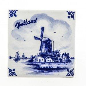 Typisch Hollands Delfts blauwe tegel - Polder -Molen - Holland