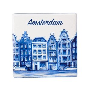 Heinen Delftware Magneet vierkante tegel  Amsterdam