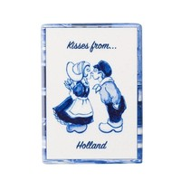 Typisch Hollands Magneet - tegel - rechthoek kissing couple