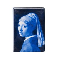 Typisch Hollands Magnet rectangle girl with the pearl