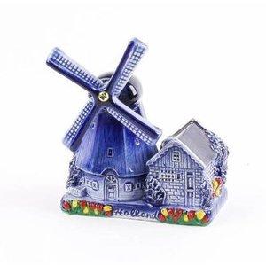 Typisch Hollands Delfter Blau Poldermühle 10 cm