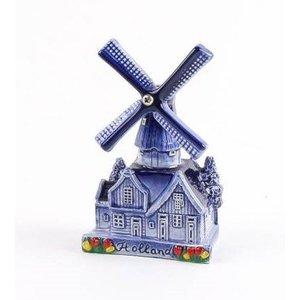 Typisch Hollands Delft blue village mill 10 cm
