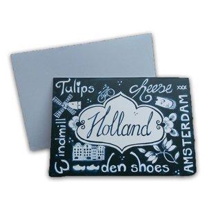 Typisch Hollands Dubbele wenskaart - Holland -(Blauw-Wit)