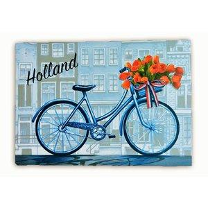 Typisch Hollands Enkele kaart - Delfts blauw - Holland - Fiets