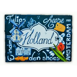 Typisch Hollands Enkele kaart - Delfts blauw - Hollandse iconen