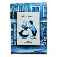 Typisch Hollands Einzelkarte - Delfter Blau - Küsse aus Holland