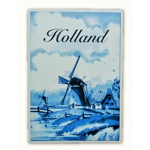 Heinen Delftware Enkele kaart - Delfts blauw - Klassiek met Molen