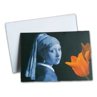 Typisch Hollands Double greeting card - Holland -Girl with the Pearl