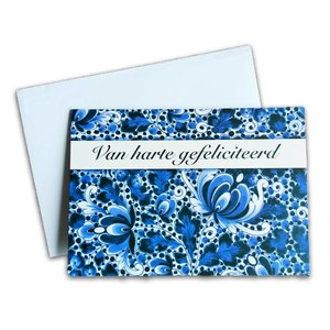 Typisch Hollands Double greeting card - Delfts - van Harte Congratulations