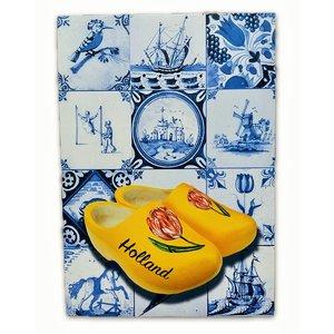 Heinen Delftware Enkele kaart - Delfts blauw - Klassiek met klompen