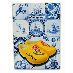 Heinen Delftware Single card - Delft blue - Classic with wooden shoes