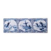 Typisch Hollands Delfts blauwe onderzetters  Molens 6 stuks