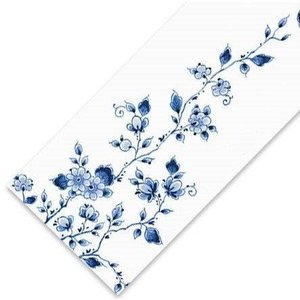 Typisch Hollands Table runner - Delft Blue - Flowers
