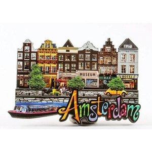 Typisch Hollands Magnet - Amsterdam Fassadenhäuser