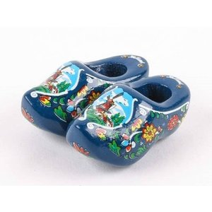 Typisch Hollands Magnet - Clogs - Blau