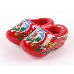 Typisch Hollands Magnet - Clogs - Red